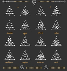 Set of geometric hipster shapes4a1black vector