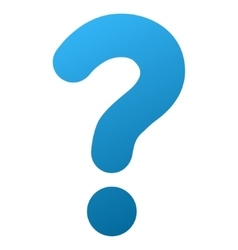 Question gradient icon vector