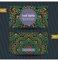 Templates set of business card with vector