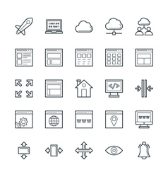 Design and development cool icons 2 vector