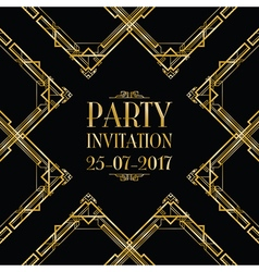 Party invitation art deco vector