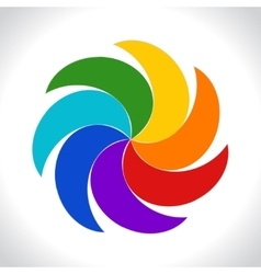 Abstract colorful icon rainbow style spiral vector