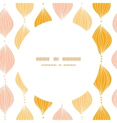 Abstract golden ogee circle frame seamless pattern vector