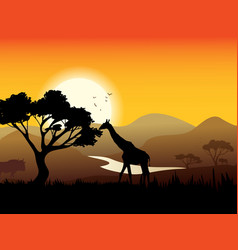 African Landscape Poster vector image vector image