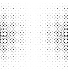 Black and white circle pattern - geometric vector