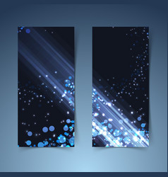 Bright glowing abstract vertical banners vector