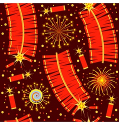 chinese fireworks seamless pattern for backg vector image vector image