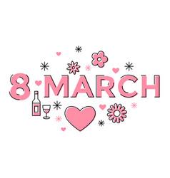 digital pink 8 march vector image