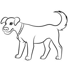 dog contour black vector image vector image
