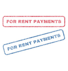 For rent payments textile stamps vector