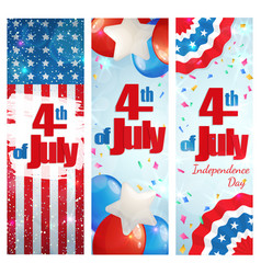 Fourth of july independence day vertical banner vector