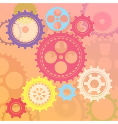 gear colorful vector image