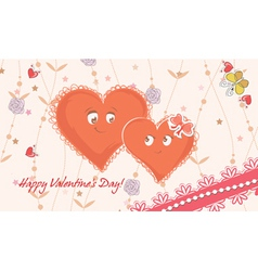 hearts in love vector image vector image
