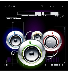 high tech speakers vector image vector image