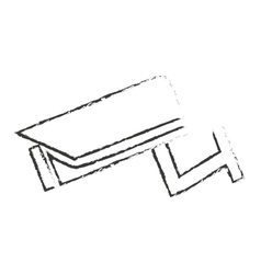 Isolated cctv camera design vector