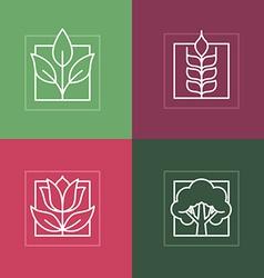 Line logos vector
