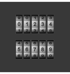 modern combination number code set vector image
