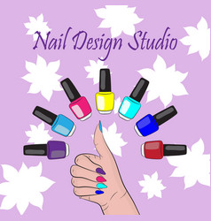 nails vector image