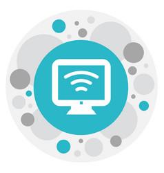 Of motel symbol on wifi icon vector