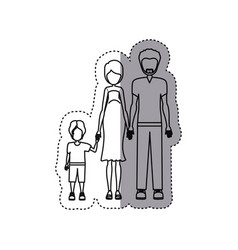 people couple with their children icon vector image vector image
