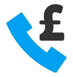 Pound payphone flat icon symbol vector