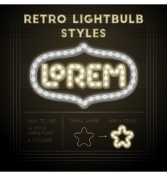 Retro lightbulb styles vector