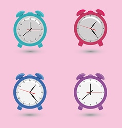 Set alarms with different dials vector image vector image