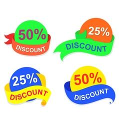symbol discount vector image