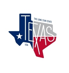 Texas related t-shirt design The lone star state vector image vector image
