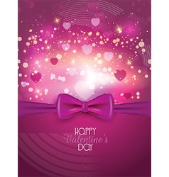 valentines day background with ribbon 1812 vector image vector image