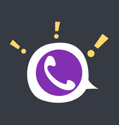 Viber flat icon element template for design vector