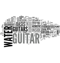 what to look for in a guitar humidifier text word vector image