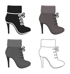 Woman boot icon of for web and vector