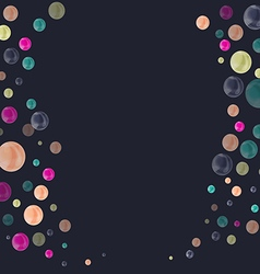Colored bubbles creating frame vector