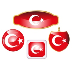 Turkey-flag-icon-set vector