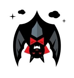 Halloween bat concept cartoon vector