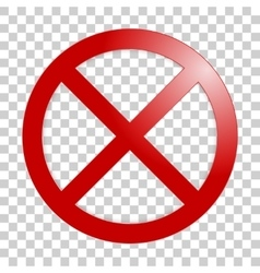 Stop sign no sign template vector