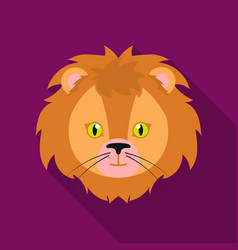Circus lion icon in flat style isolated on white vector