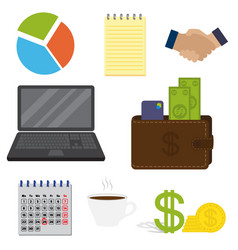Set of business important items isolated on a vector