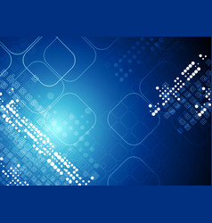 Bright blue abstract tech squares background vector