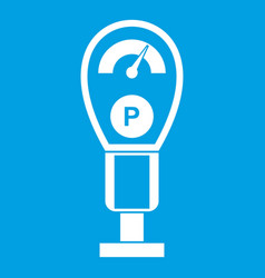 Parking meters icon white vector