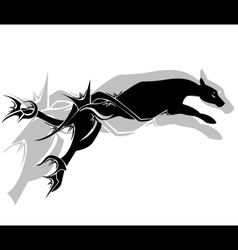 Jaguar fier tribal tattoo vector