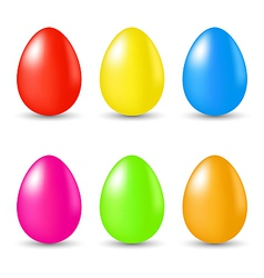 Easter set paschal eggs isolated on white vector