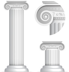 Classical greek or roman ionic column vector