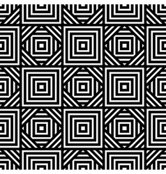 Seamless black and white geometric pattern simple vector