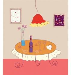 table drawing vector image