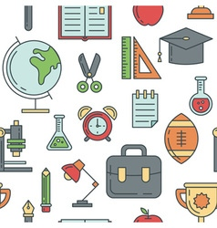 School seamless pattern vector