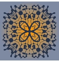 Symmetrical pattern made of blobs ink pattern on vector