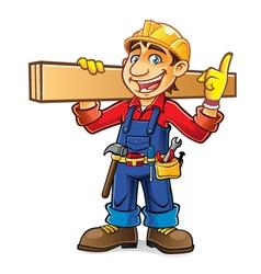 Cartoon Builder Idea vector image