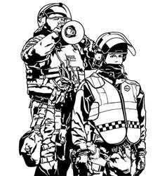 Police heavy armor vector